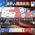 日本のテレビ各局が大統領選速報を知らせる中…テレ東の安定感!