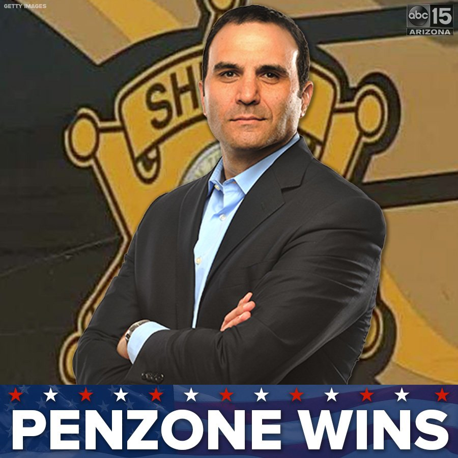 There's a new Maricopa County Sheriff in town: Paul Penzone.   https://t.co/82spw7dvjt  #abc15 #ElectionNight