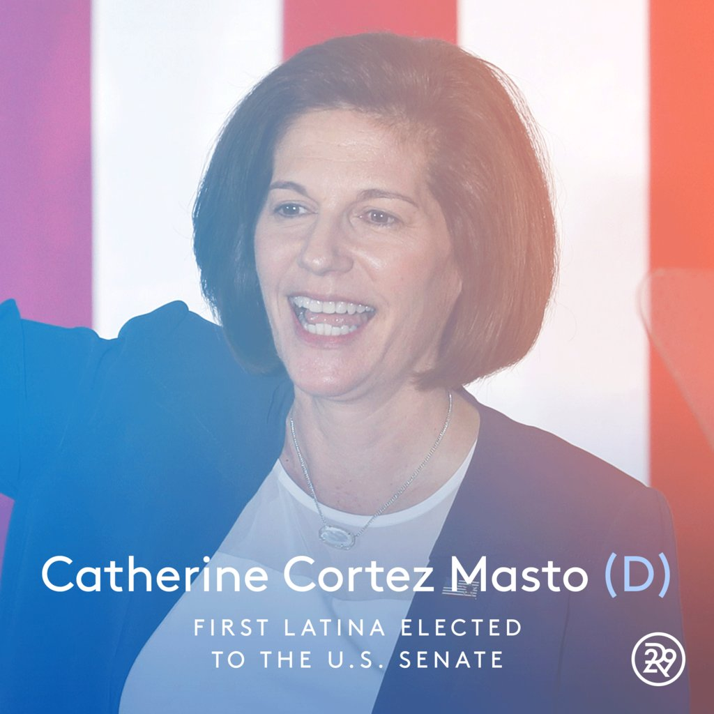 Let's take a moment to celebrate Catherine Cortez Masto, the first latina elected to the U.S. Senate #ElectionNight