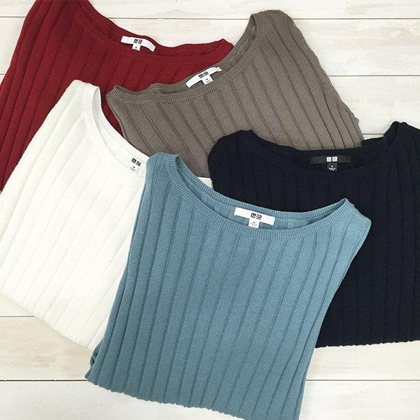 SNSで人気の #コットンカシミヤワイドリブセーター に新色が登場しました
