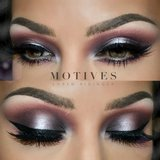 Create this pink metallic eye look for your holiday party with these steps here makeup