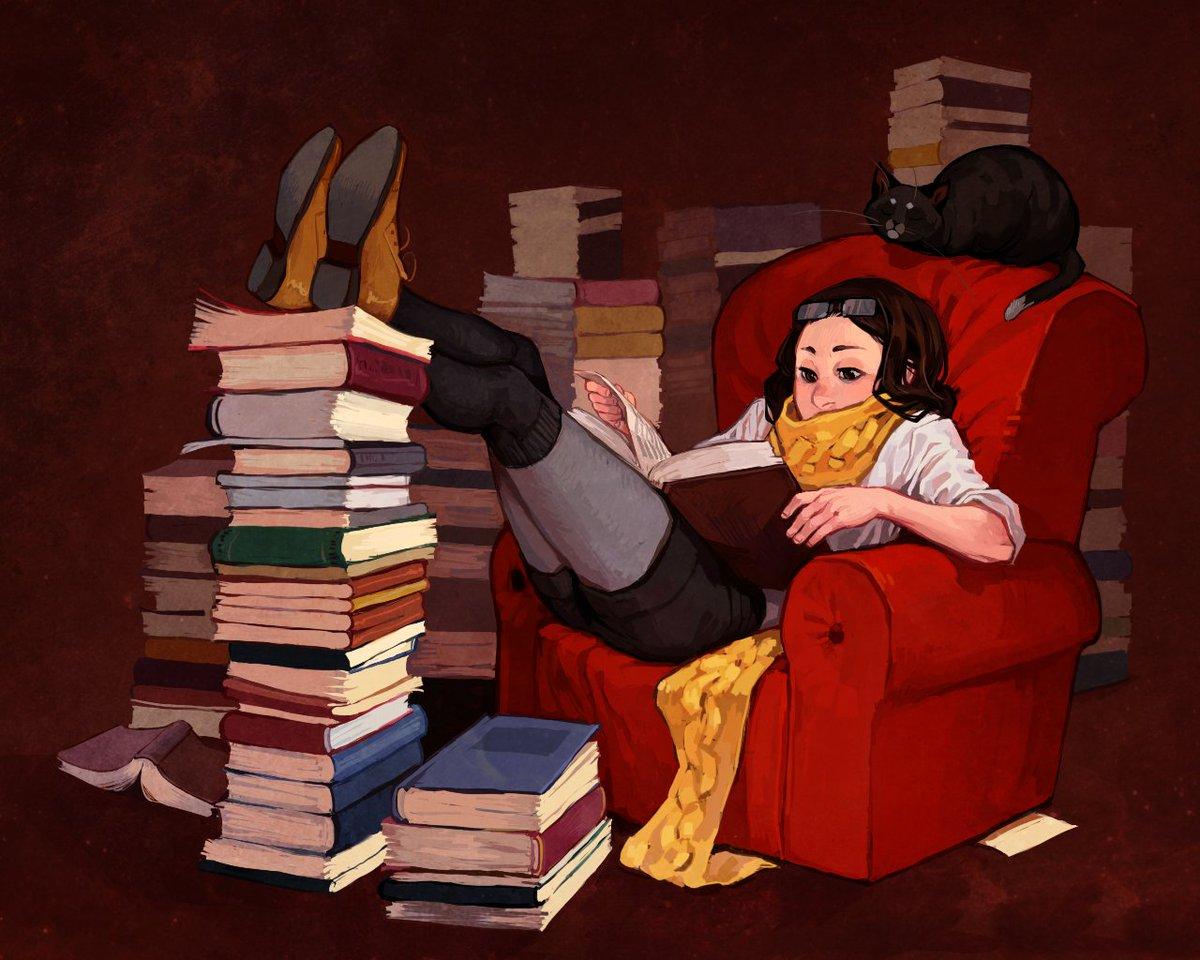 Веселые картинки о книгах