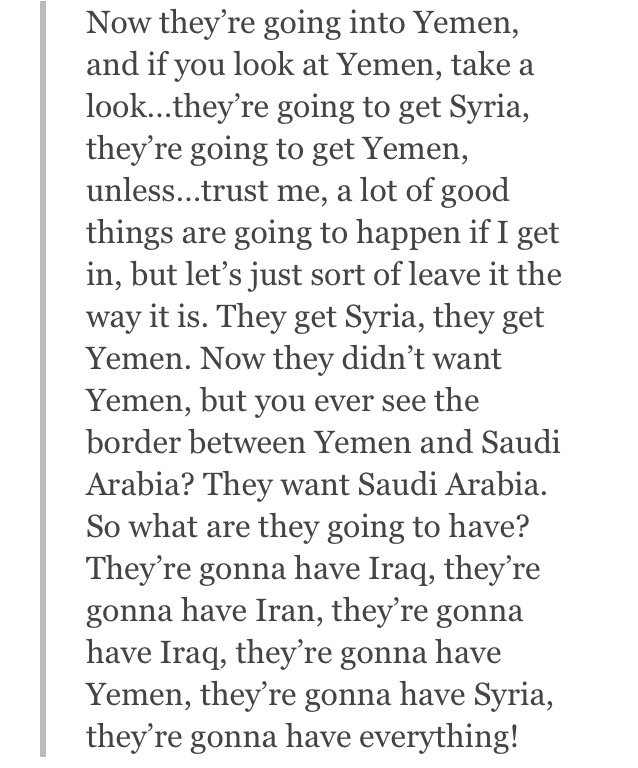 Reminder: this is the closest thing that the apparent president elect has to a Yemen policy. https://t.co/6lBhfNvMvo