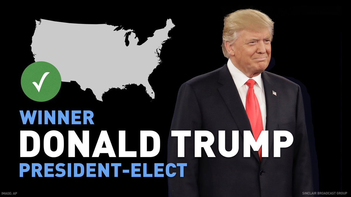 BREAKING:  Donald Trump is elected president of the United States #ElectionNight #komonews