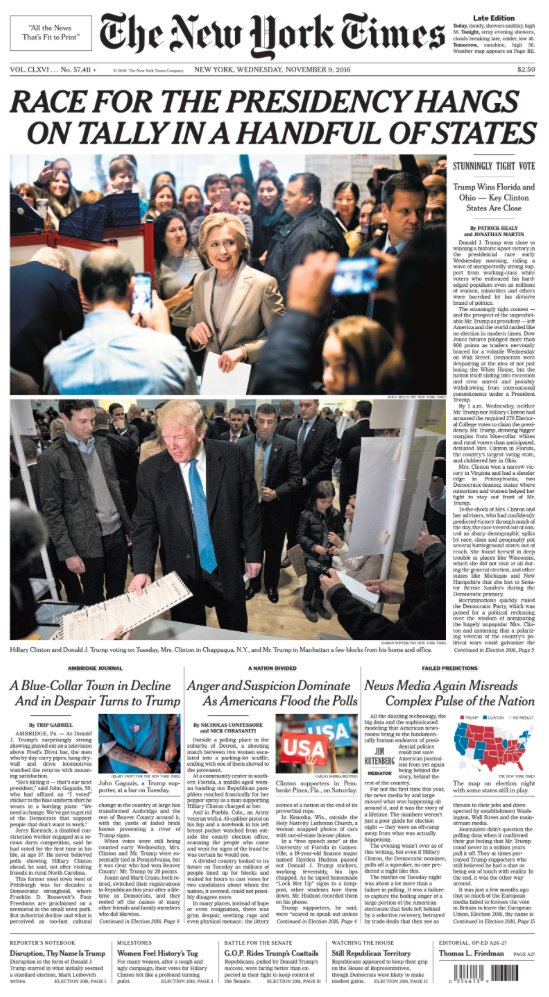 """Front Pagenew York Times Design Of: The New York Times On Twitter: """"The Front Page Of The New"""