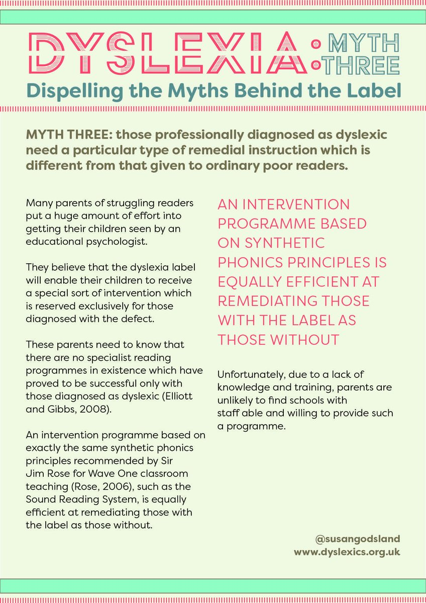 Dispelling Myth Training In Education >> Anne Glennie On Twitter Dispelling The Myths Behind Dyslexia Myth