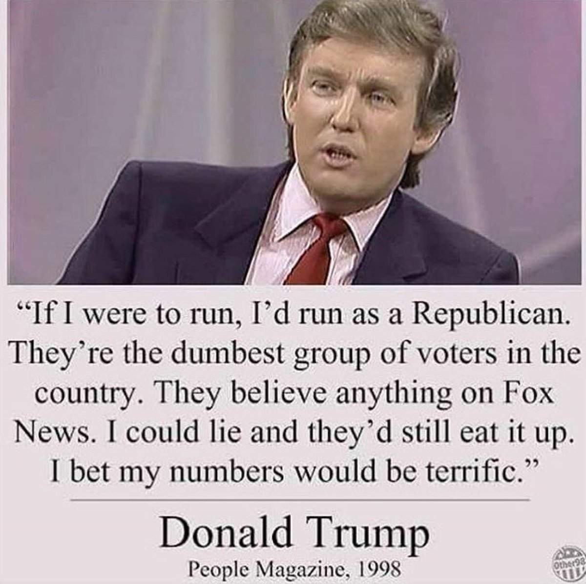 I don't believe what he said in his quote ...but this is who YOU voted for. Unbelievable. https://t.co/apOuibLzSA