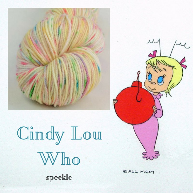 Coming Friday, Cindy Lou Who!  Handpainted yarn Inspired by an innocent spirit, https://t.co/NMicYLhmYH