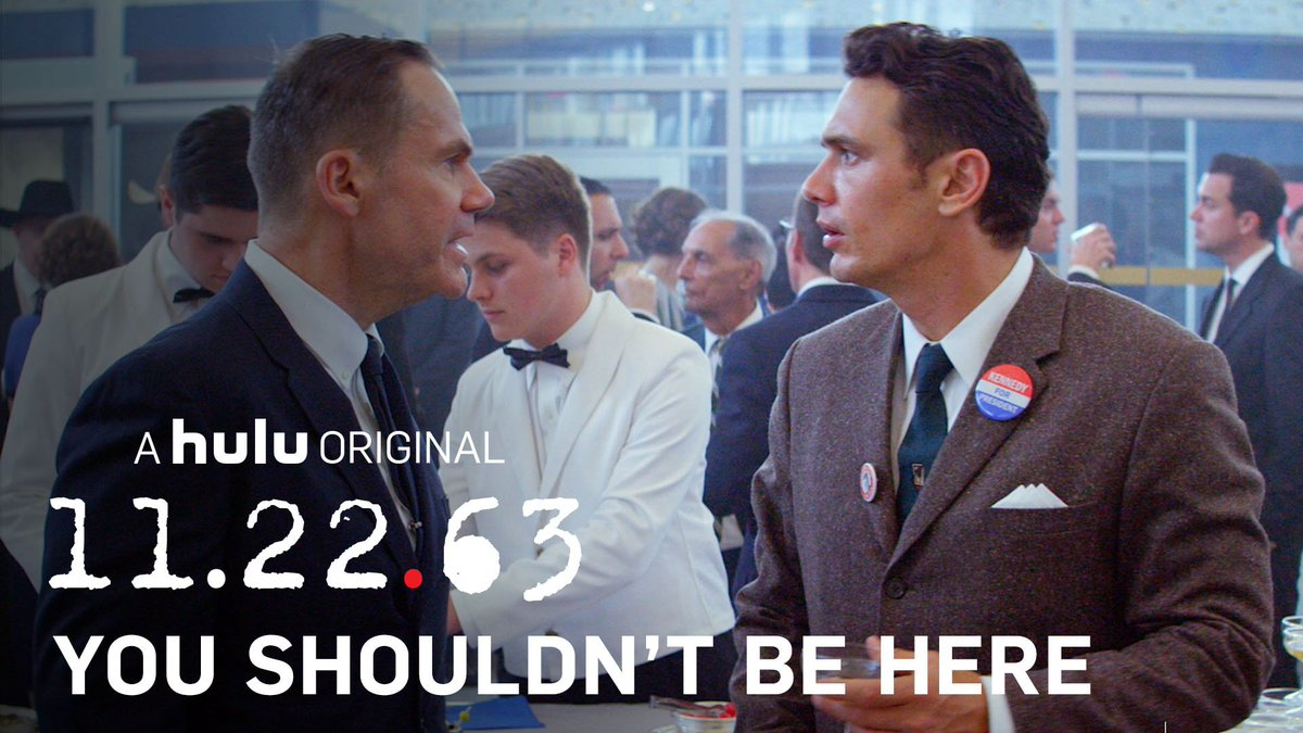 You shouldn't be here. Relive the epic story of 11.22.63. https://t.co/SyPEik8Rw3 https://t.co/yOBkghXJqn