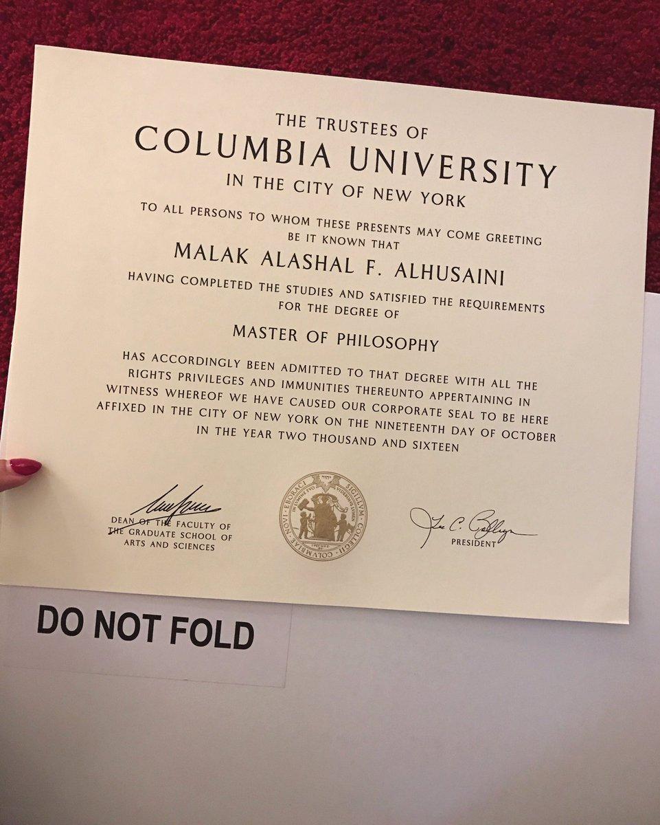 د ملاك الحســيني On Twitter ثالث درجة ماجستير احصل عليها من جامعة كولومبيا في نيويورك ماجستير إدارة اعمال ماجستير إدارة تمريض وإدارة صحيه ماجستير بالفلسفه عقبالكم Https T Co Wd1q9yi3lf
