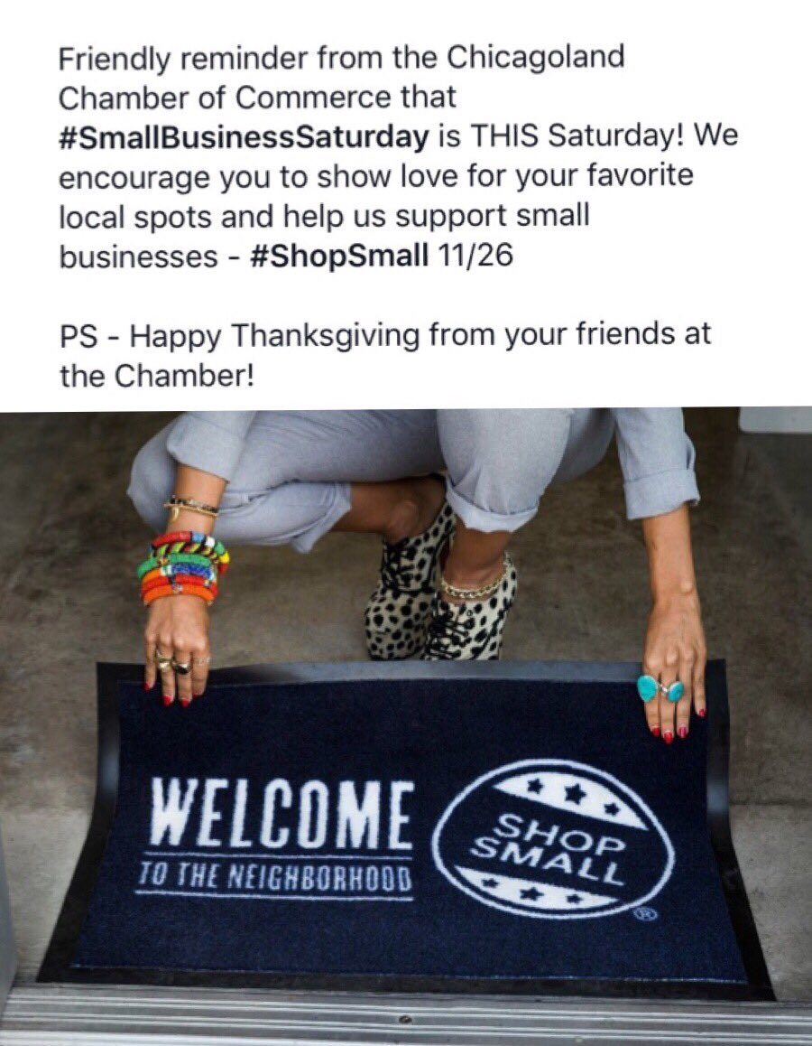 Support your favorite local spots & businesses on 11/26! #SmallBusinessSaturday is THIS weekend! @ShopSmall https://t.co/wDX0rjgCvh