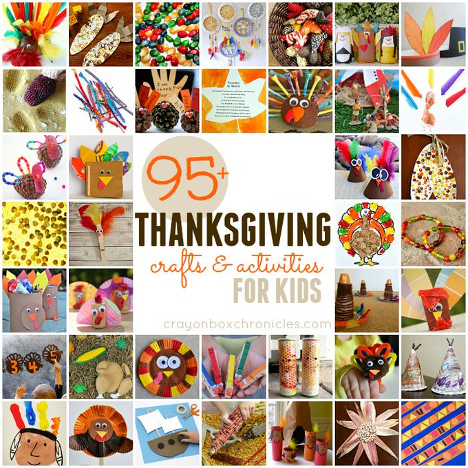 Fight Thanksgiving Boredom With Over 95 Crafts and Activities For Kids!