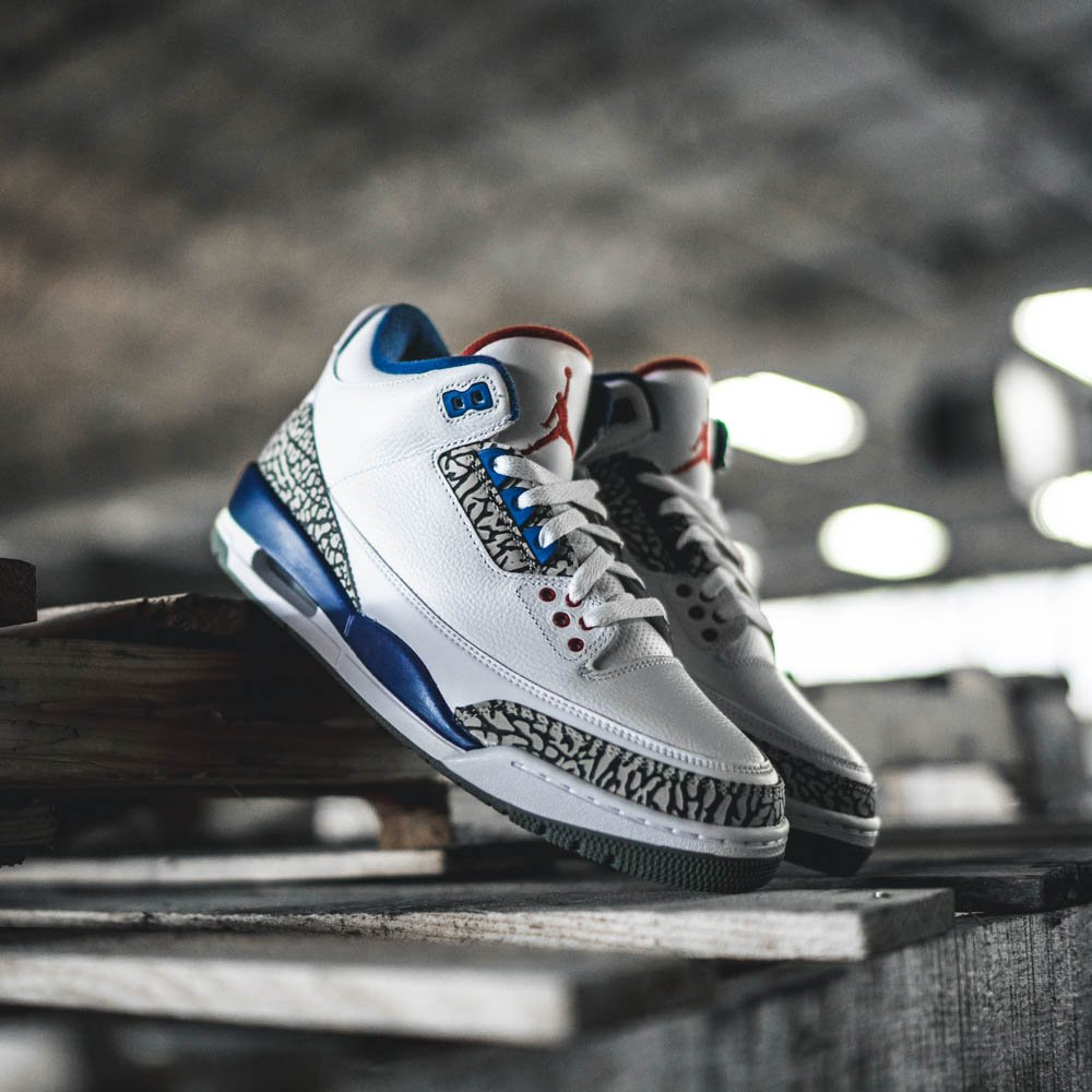 9218c90056ec6d 23 jordans shoes retro 3 true blue Find great deals on nike free white  leopard 8.5 womens Women s Nike Shoes ...