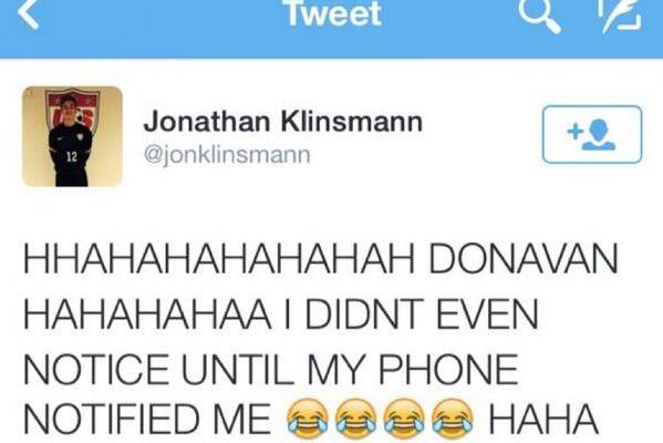 HAHAHAHAHAHA JURGEN HAHAHAHAHA I DIDNT EVEN NOTICE UNTIL MY PHONE NOTIFIED ME