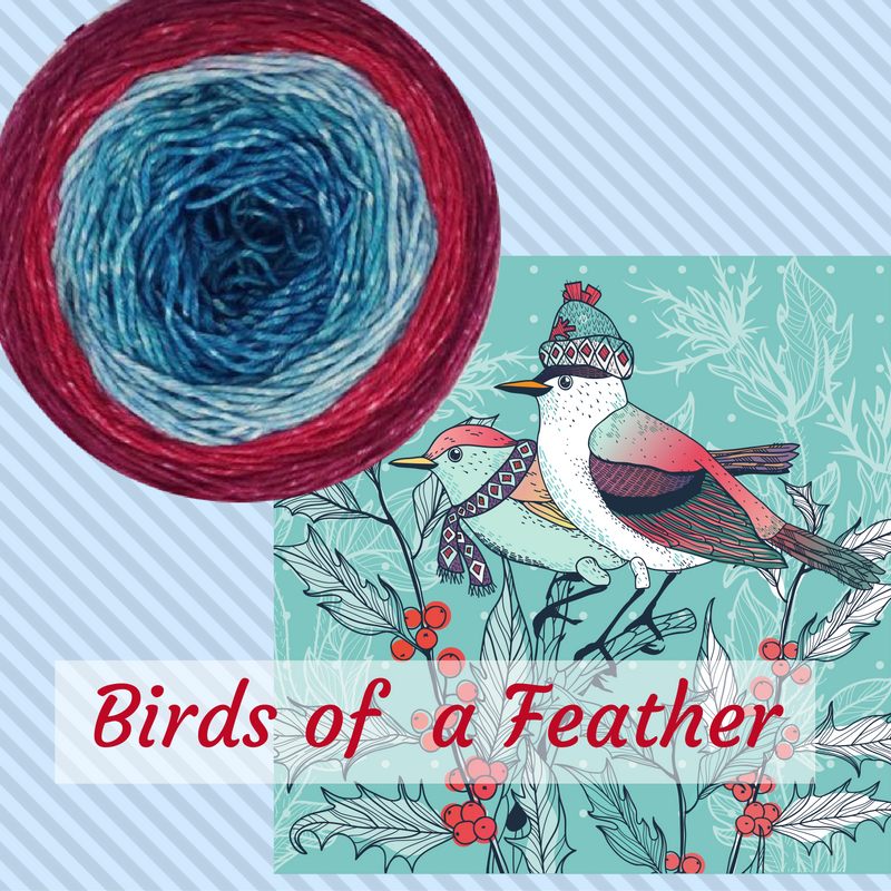 New! Birds of a Feather; feather your nest with a soft blue and red gradient. https://t.co/TyGinuX8tf