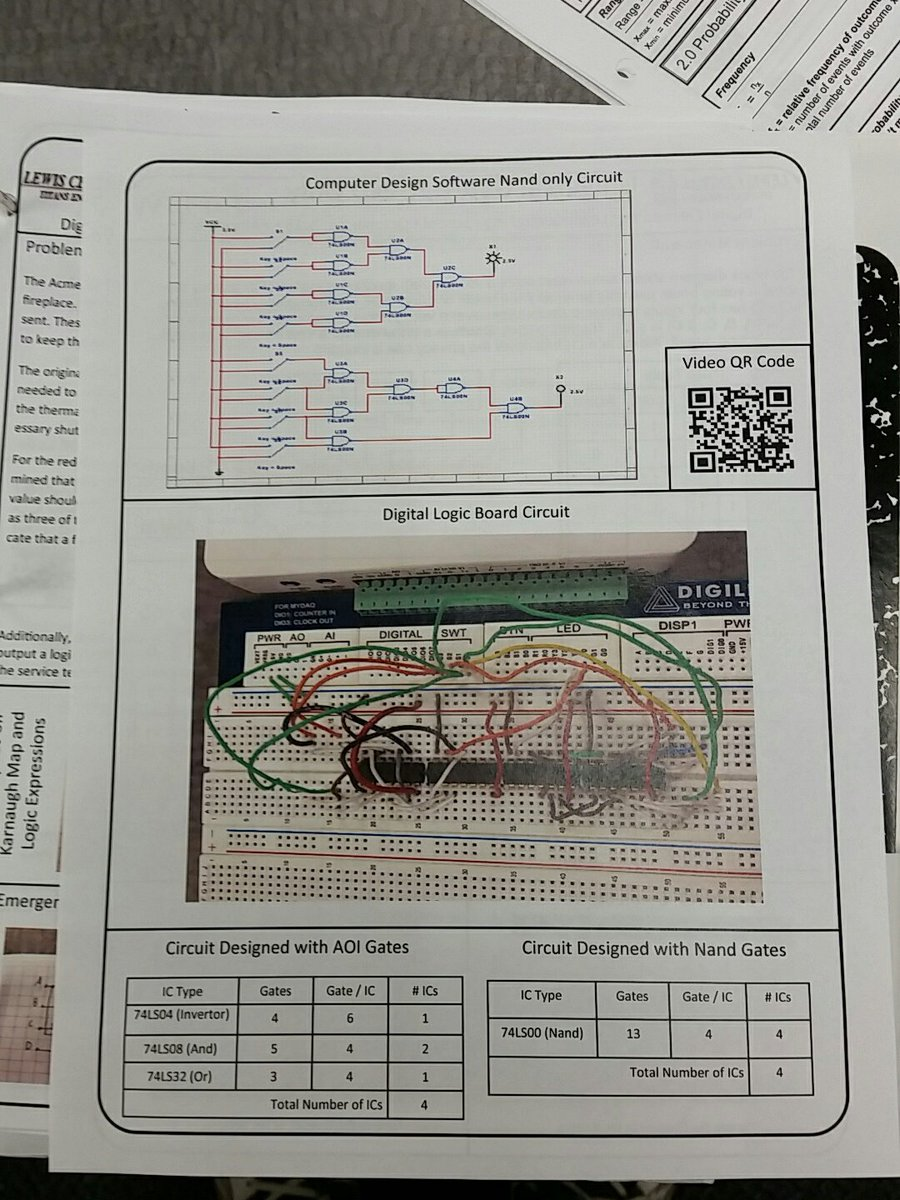 Aaron Nickman On Twitter Pltw Digital Electronics Students Digitalelectroniccircuits1jpg Designed And Created Circuits For Voter Booth Monitoring W 1 Type Of Gate