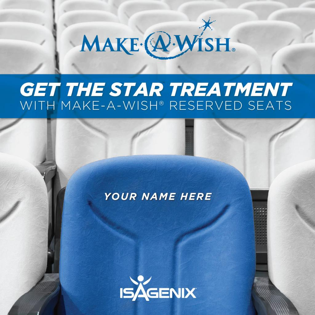 Isagenix On Twitter Make A Wish Reserved Seating At Nyko 2017 Is