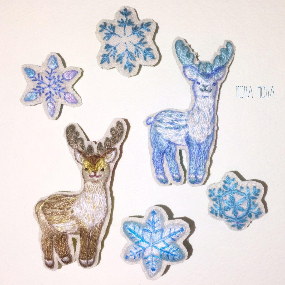 手刺繍で魅せる♡楽しむ♡クリスマス♡メッセージカードにも♪
