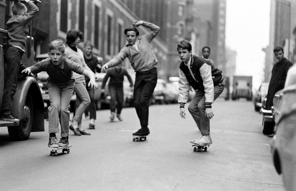History In Pictures On Twitter Kids Skateboarding NYC 1965 Photograph By Bill Eppridge