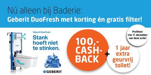 Nu alleen bij #Baderie: 100,- cash-back op een #Geberit DuoFresh + gratis filter. Profiteer t/m 11 december https://t.co/MTkfkclrI0 https://t.co/EfYgIbW7Fz