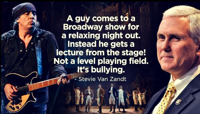 This isnt a conversation, its bullying  #BoycottHamilton #LiberalsUnite  #MAGA #AmericaFirst #Pence   @VoteTrumpPics