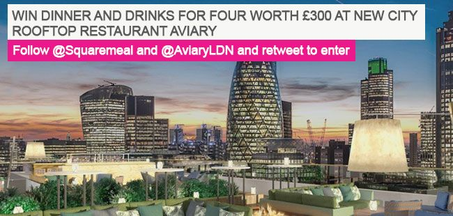 #Win dinner and drinks for 4 worth £300 at rooftop restaurant Aviary. Follow  +  + RT to enter  https://t.co/XefsW8dpzm
