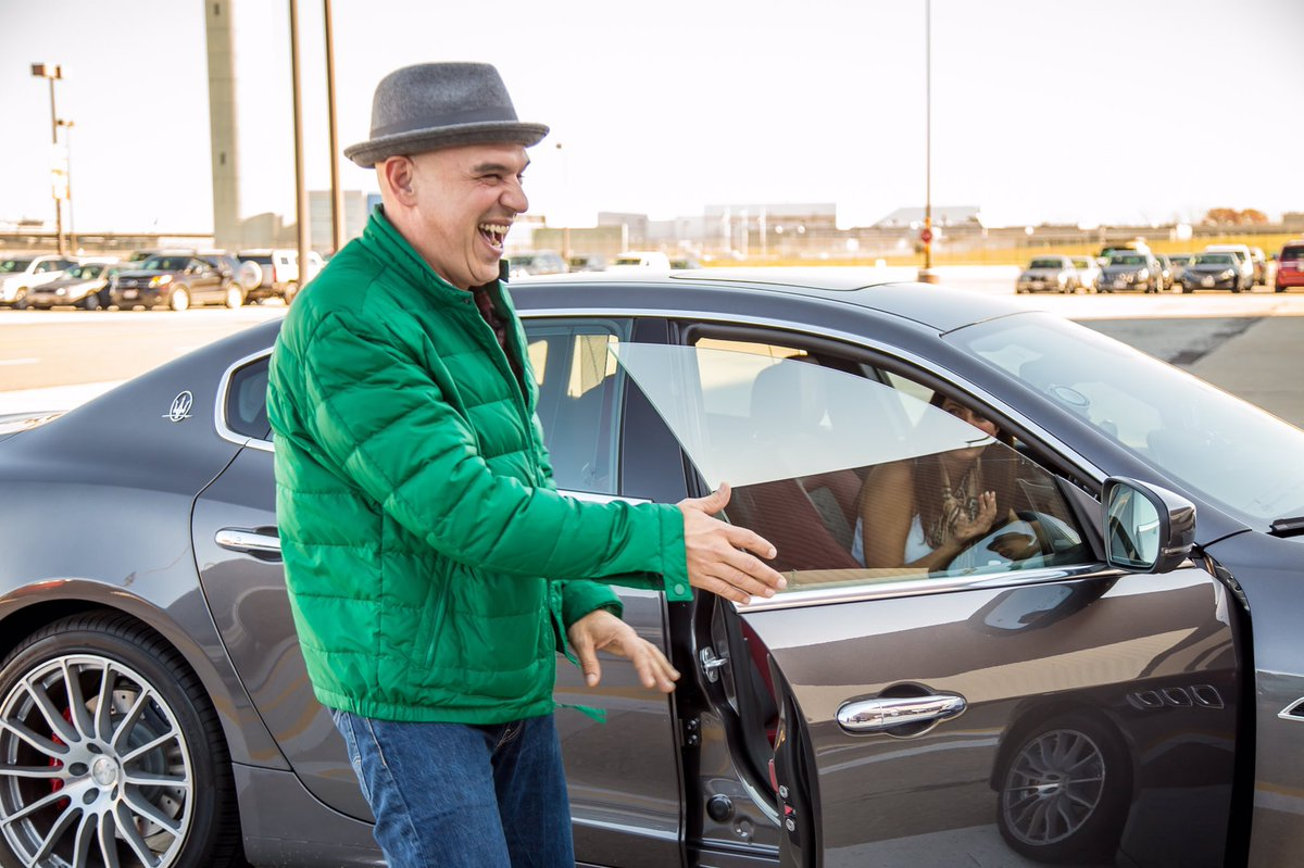 Image: Michael Symon with his car