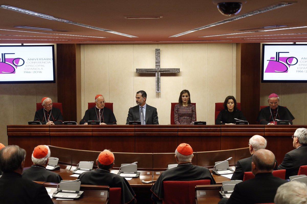 Imperor.net: Новости: аристократия, монархия, luxury, история Королевская чета Испании посетили Испанскую епископскую конференцию