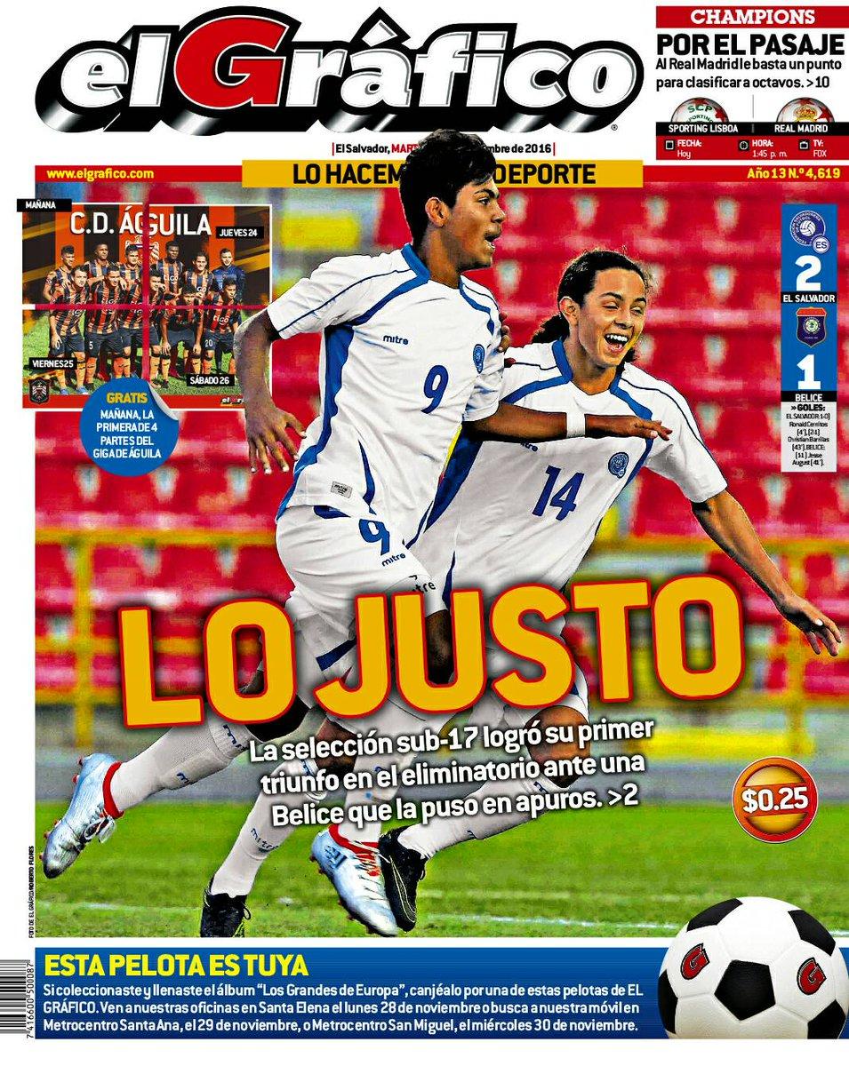 Eliminatorias de centroamerica rumbo al mundial sub17 de india 2017. El Salvador 2 Belice 1. Cx3m2xBVQAA4qpd