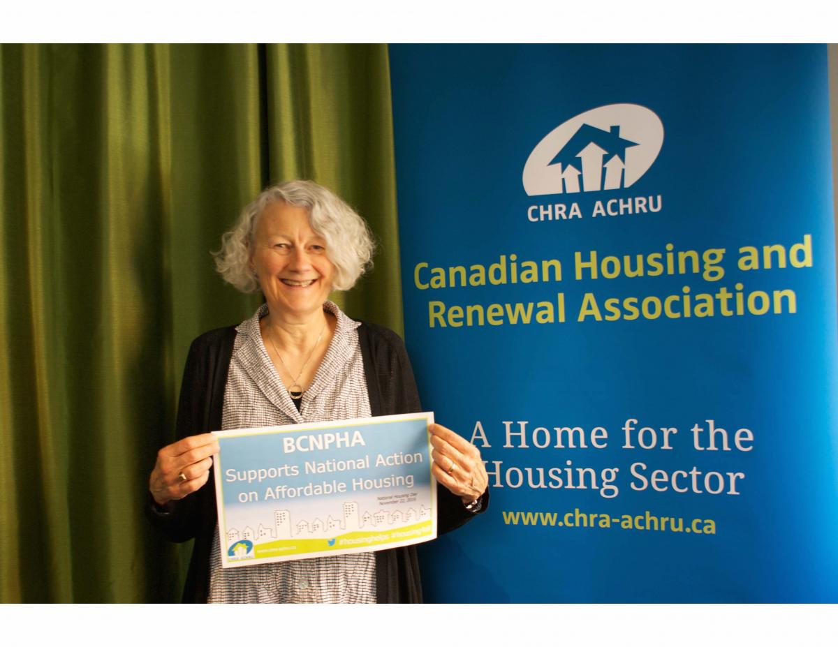 Kaye Melliship, CHRA Regional Director for BC, is celebrating National Housing Day with us! #NHD2016 @BCNPHA https://t.co/udHFuy3lgd