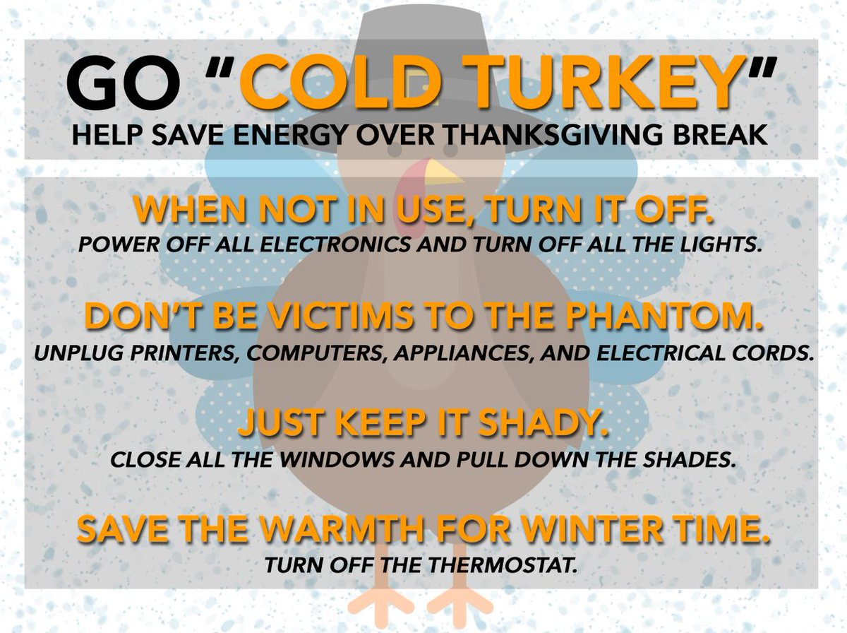 Ucsd Sustainability On Twitter Most Electrical Devices In Your Turn Off Electricity Home Still Use While Turned This Thanksgiving Break Go Cold Turkey And