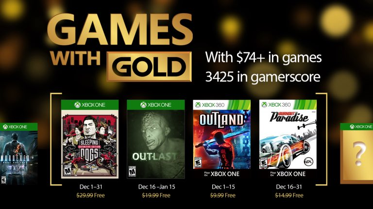Xbox Live Games with Gold December 2016