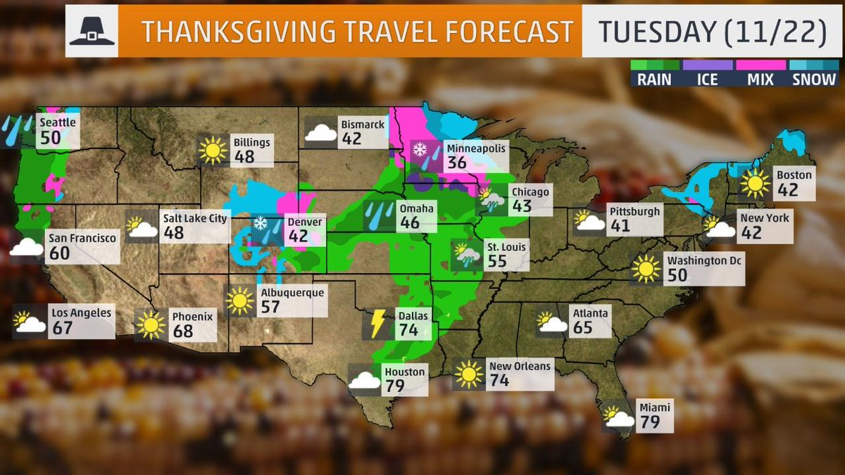 Accutemp Inc on Twitter Traveling for Thanksgiving Heres a – Travel Weather Map Forecast