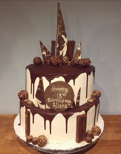 Love Cake On Twitter Indulgent Two Tier Chocolate Drip Cake