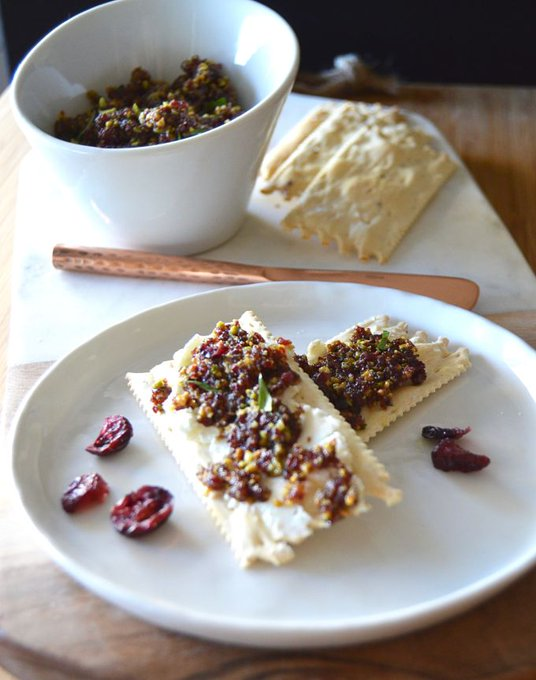 Cranberry Pistachio Spread -An easy holiday appetizer.