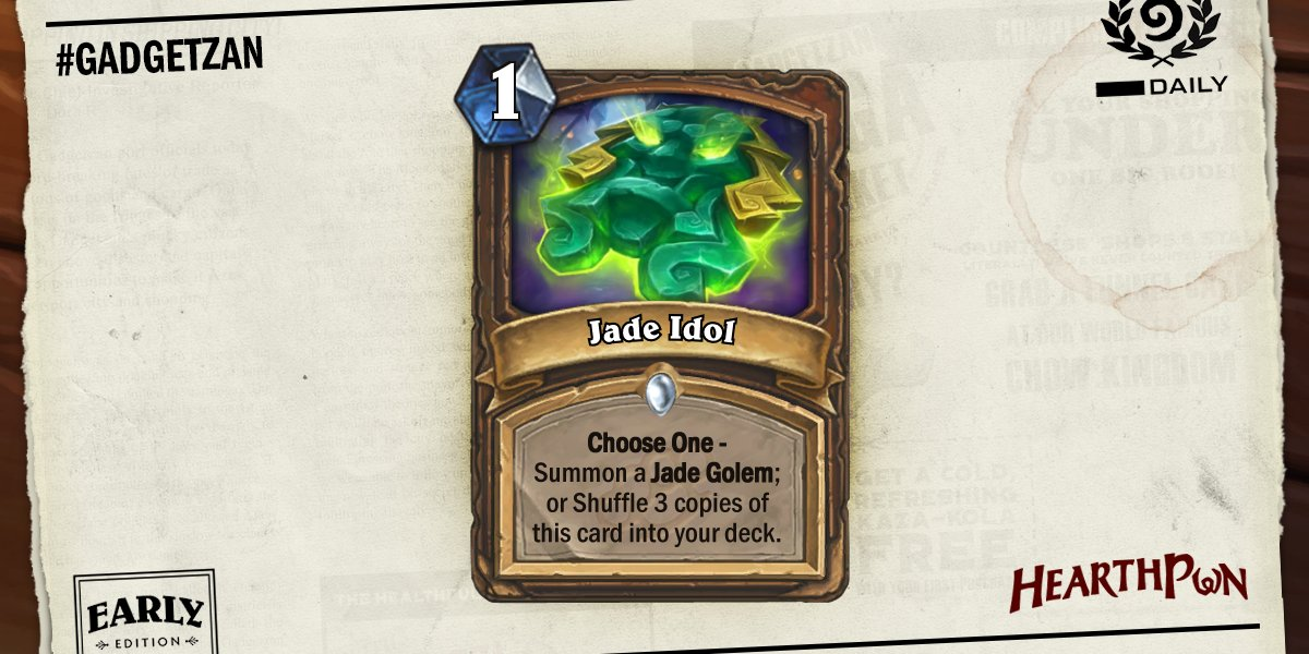 Αποτέλεσμα εικόνας για jade idol hearthstone