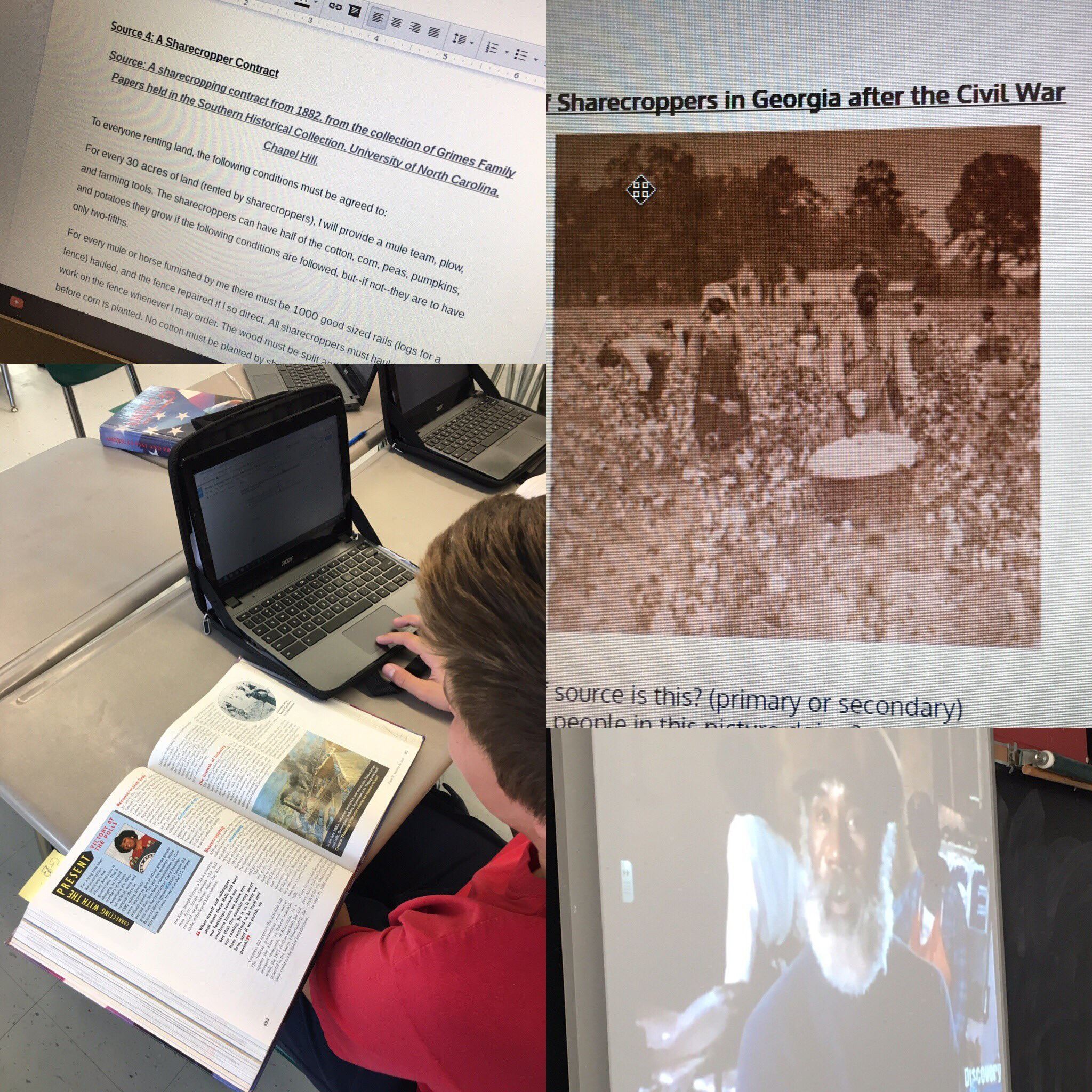 Rewriting the textbook to paint a more accurate picture of sharecropping during Reconstruction after analyzing primary sources #MTPSPride https://t.co/MelGFF2YC6