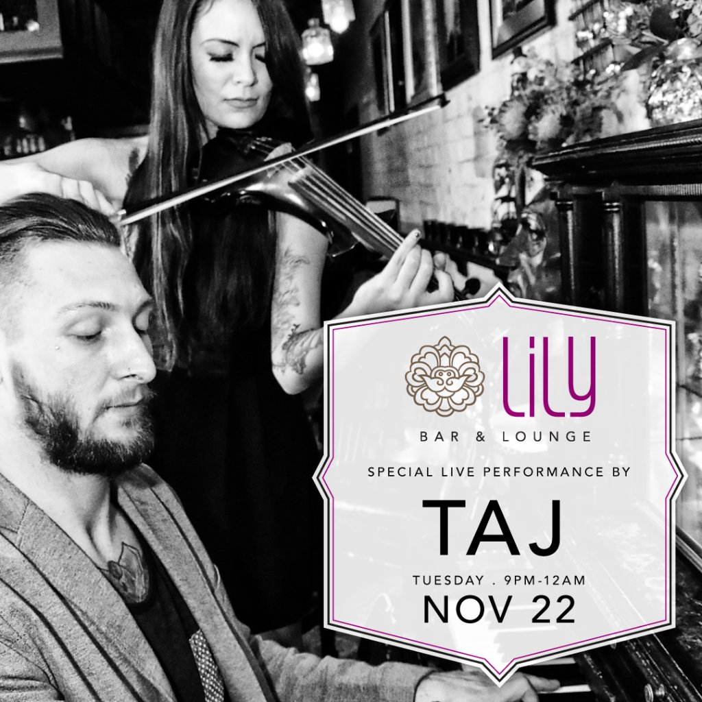 #TAJ is at lilybarlv tonight. Begin your holiday break with some great music! https://t.co/ThhTUPOmPK