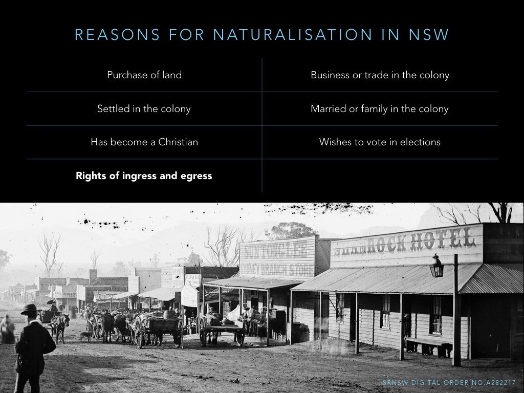 Reasons Chinese men gave for seeking natz in NSW mostly about process of 'settling': land purchase, business, family, vote, but... https://t.co/0l0n8Vx9fl