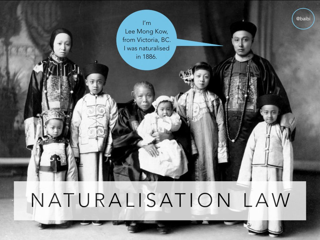 Natz law + its relationship to anti-Chinese policies in different colonies was complex and changing over late 19th c. Let's have a look! https://t.co/i3yfDtChlI