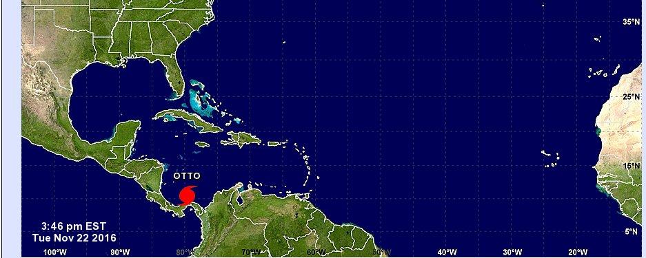 Última Hora: A esta hora el Centro de Huracanes de Estados Unidos  confirma a OTTO como huracán