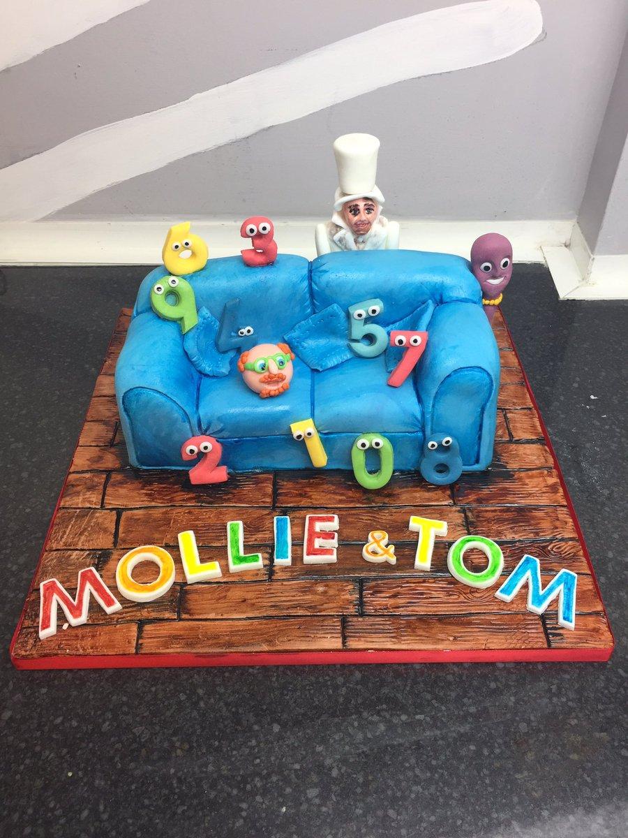 The Bakeking On Twitter Numberjacks Theme Birthday Cake