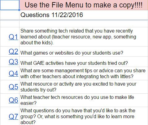#gafe4littles chat in 30 minutes at 5 PM PST!! Can't wait to discuss the #edtech resources the group uses in their classrooms! #edtechchat https://t.co/ee2jOJl1G3