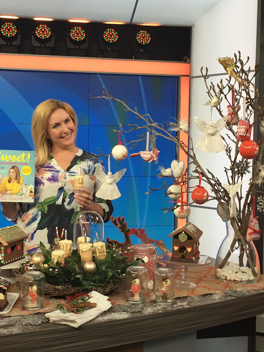 The gorgeous Elise Strachan from @CupcakeAddictAU with her #sweetcelebrationscookbook on @morningshowon7 today<br>http://pic.twitter.com/0NNrAYq5C9