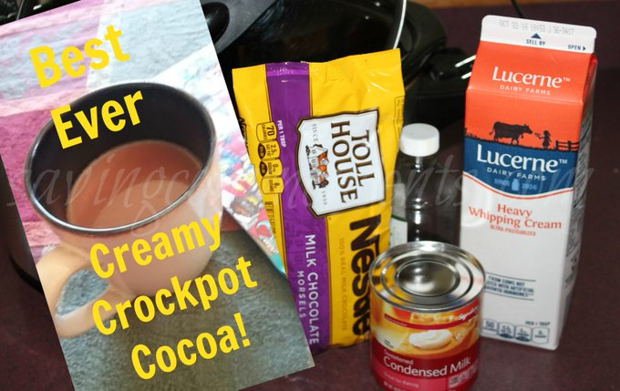 Hot Cocoa in the Crockpot! -