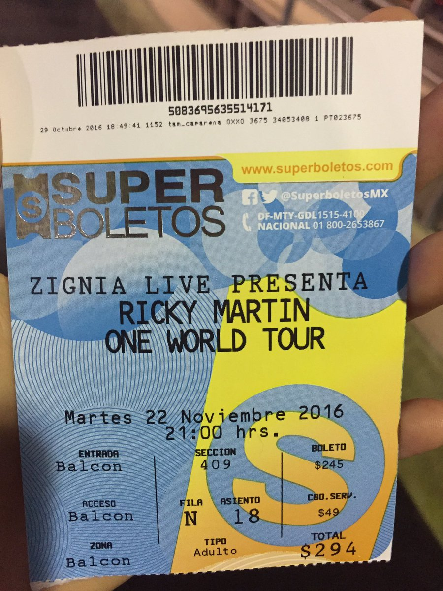 @SuperboletosMx #SuperBoletosMeLlevaAlFrente Estoy en balcón, sección 409 en fila N asiento 18