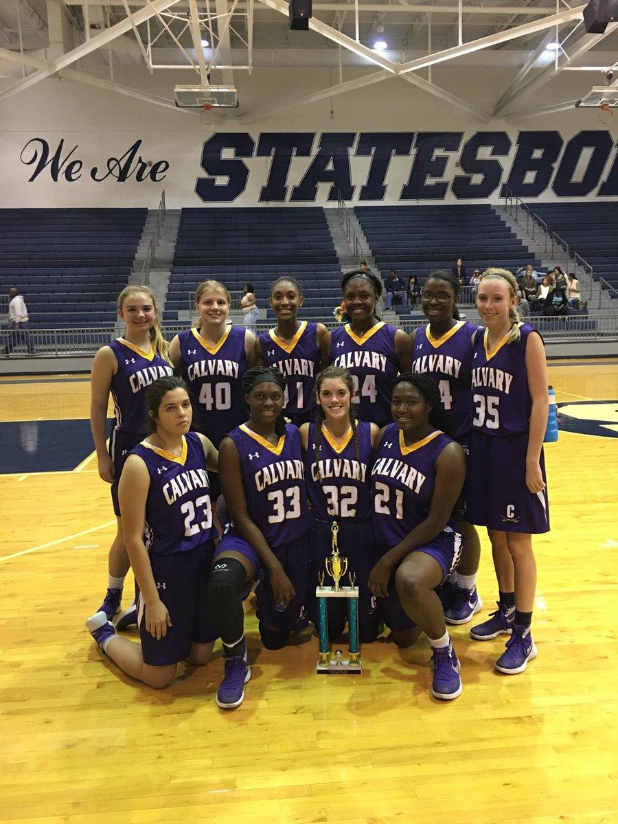 Calvary Day School Athletics On Twitter Hoistthecolors Calvary Girls Basketball Wins Vs Statesboro Thanksgiving Champions Statefarm Thanks Sam Sharpe