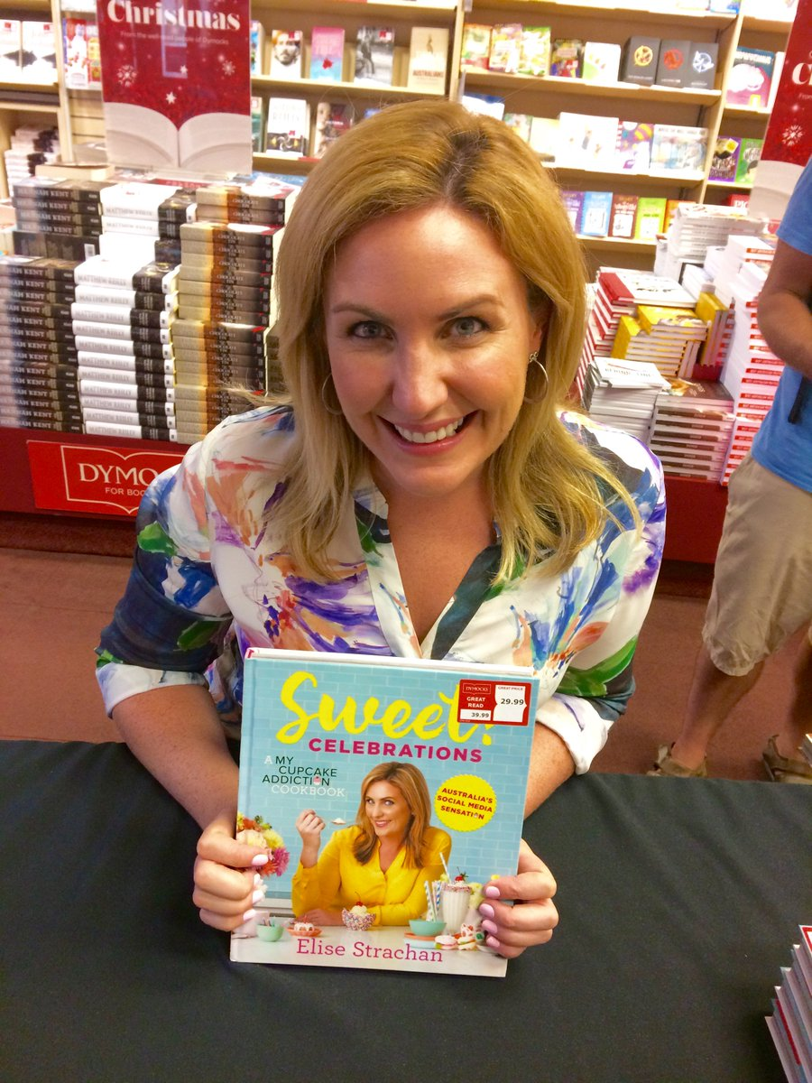 Elise Strachan in store NOW signing copies of her book Sweet! Celebrations @CupcakeAddictAU @murdochbooks #sweetcelebrationscookbook <br>http://pic.twitter.com/Tfz73xQbID
