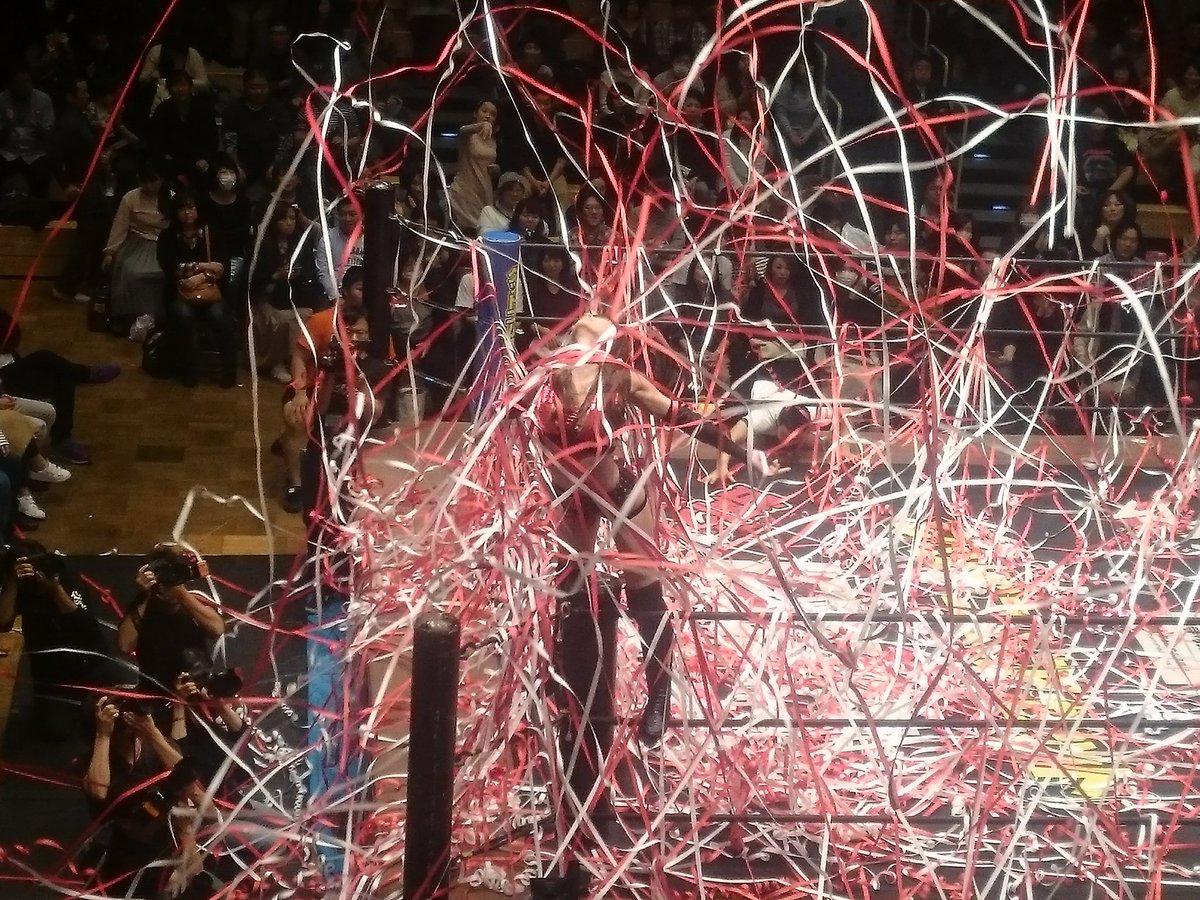 今日のDDTプロレス後楽園ホール大会は、赤井紗希さんの入場が綺麗でした。期待値上がってるのがよく分かるわ!  #ddtpro https://t.co/EIhM44c7cd