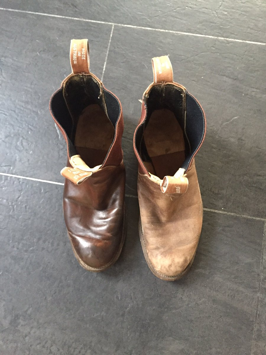 Happiness is finding my 16 year old pair of @RMWilliamsUK and then bringing them back to former glory. Boots made to last.